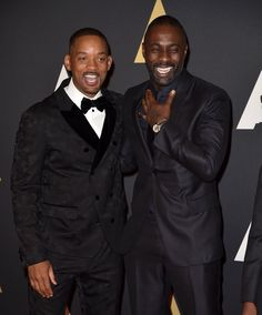 Pin for Later: Stars Get All Glammed Up For the Governors Awards  Pictured: Will Smith and Idris Elba