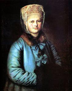Портрет купчихи с муфтой.1780-1790 гг. Неизвестный художник.