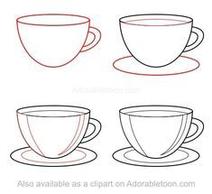 Image result for dishes drawing lesson