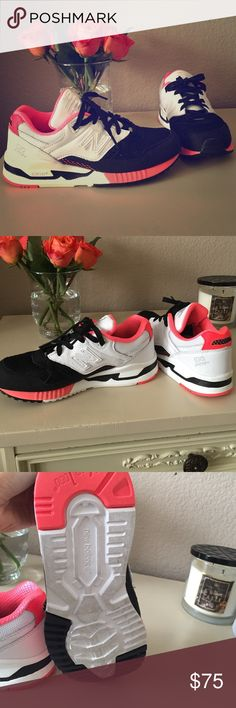 New Balance *coral & black** Cute color combo- super comfy! Already have a similar pair- only worn once , brand new condition!! New Balance Shoes Athletic Shoes