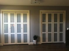 3080 Series 3 Lite Tempered Frosted Glass Composite Off White Interior  Closet Bi Fold Door 247252   The Home Depot