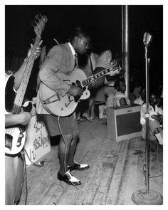 B.B. King at The Hippodrome. Memphis, early-1950s.
