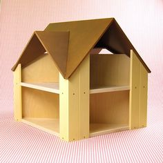 Custom Cottage with brown roof & yellow sides $250.00