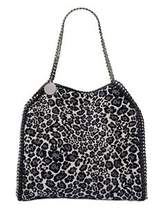 STELLA MCCARTNEY - MEDIUM FALABELLA LEOPARD CHENILLE BAG - LUISAVIAROMA - LUXURY SHOPPING WORLDWIDE SHIPPING - FLORENCE