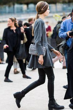 Valentino & Chanel. so stunning. #CarolineBraschNielsen #offduty in Paris.