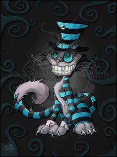 Evil Cheshire Cat | Cheshire Cat - Tim Burton by Evil-Hat