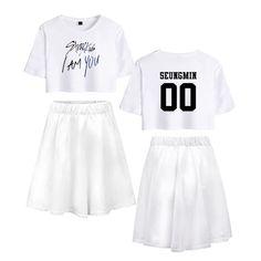 Enjoyyourlife Kpop Stray Kids T-Shirt /& R/öcke Set StrayKids Album MIROH Liebespaar R/öcke /& Top Sets Sport Set Trainingsanzug