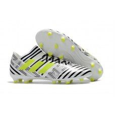 Latest Adidas Messi Nemeziz 17.1 FG Mens Soccer Boots Black White Yellow Messi, Soccer Boots, Ader, Nike, Black Boots, Cleats, Black And White, Yellow, Solar