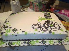 All Tangled Up - cake for hair salon open house