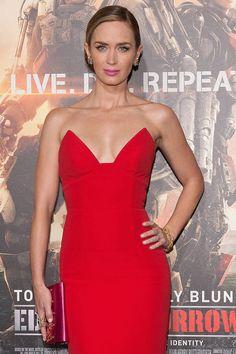 Red Dresses - Emily Blunt Photos - Harper's BAZAAR Magazine