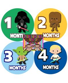 baby star wars Monthly Onesie Stickers