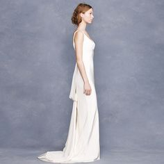Lyden gown, sweet buttons, deep V, nice back & j crew
