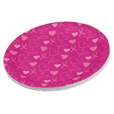 Celebrate pink event paper plate - kitchen gifts diy ideas decor special unique individual customized