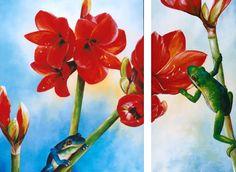 Adorable Amaryllis 115 x 95 cm. 115 x 60 cm.