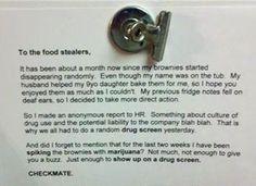 employee fridge theft