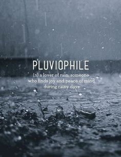 I love rain. Well, most rain. Not monsoon-y rain, if I actually have to go somewhere. Or flood-type rain. Flood-type rain is generally bad. Unusual Words, Unique Words, Cool Words, Interesting Words, The Words, Pretty Words, Beautiful Words, Simply Beautiful, Beautiful Images