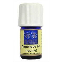angélique bio : L'huile essentielle d'Angélique bio (racine) aide a lutter contre l'insomnie, la fatigue nerveuse, l'émotivité…Elle a des propriétés antispasmodique, anticoagulante, elle aide à retrouver de l'appétit..