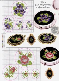 36 ideas embroidery patterns small flowers for 2019 Small Cross Stitch, Cross Stitch Rose, Cross Stitch Flowers, Cross Stitch Designs, Cross Stitch Patterns, Ribbon Embroidery, Cross Stitch Embroidery, Embroidery Patterns, Cross Stitching
