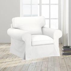 IKEA EKTORP Sofa Slip Cover, Solid Linen White | affordable, designer, custom, handmade, trendy, fashionable, locally made, high quality