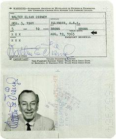Pasaportes de Famosos - Walt Disney