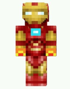 Don't mess with the Iron Man skin for Minecraft!