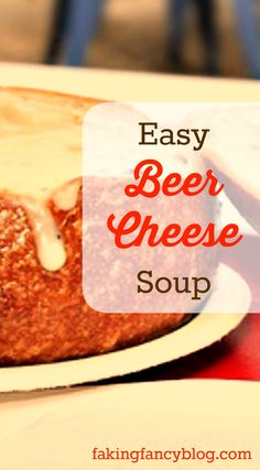 Quick and easy beer cheese soup- great for St. Patrick's Day or any busy weeknight dinner! My family loves this creamy, cheesy soup!