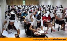 Sistemas anti-copia en los exámenes.