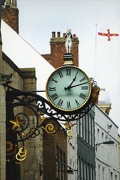 Street clock in York  photo by Ann Litt