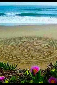 Peace & Love looking quite well on the beach! Ashlie Terry what do you think? Miss you sweetie!