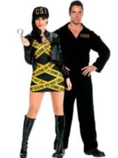 Sexy CSI and Coroner Couples Costumes-Party City