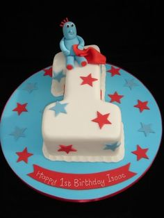 CBC-75 1st Birthday Cake with Iggle Piggle and Stars