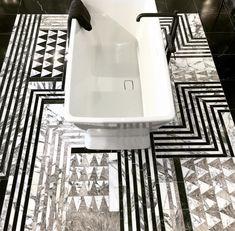 KELLY WEARSTLER X ANN SACKS. Liaison Hillcrest marble tile mosaic.