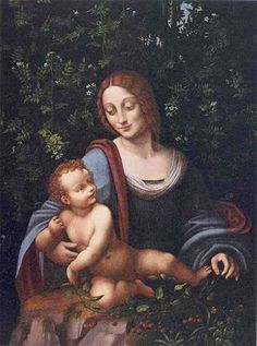 Francesco Melzi (Italian, Milan, Madonna and Child in a Jasmine Bower (detail). Oil on panel. Frick Art & Historical Center Purchased 1965 by Helen Clay Frick Madonna And Child, Jasmine, Milan, Students, Culture, History, Detail, Children, Historia