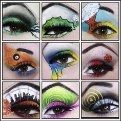 This would be sooo much fun to try! Green Day album logo inspired make-up.
