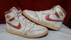 6ab4b1c2a46 1985 Nike Air Jordan 1 Metallic Red OG Original Vintage Rare  Nike   AthleticSneakers Vintage