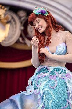 ariel the little mermaid Ariel Disneyland, Ariel Disney World, Walt Disney, Disney World Princess, Disneyland Princess, Disney Princess Dresses, Disney Fairies, Princess Costumes, Disney Love