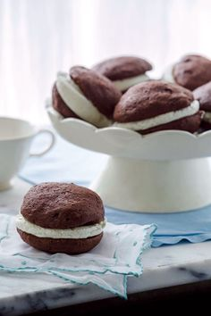 Classic chocolate whoopie pies with vanilla cream filling, a New England favorite for generations. For a delicious variation, try our recipe for pumpkin  whoopie pies with sweet maple filling, available at: YankeeMagazine.com/Whoopie.