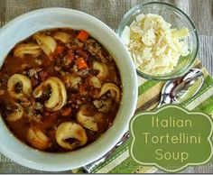 Italian Tortellini Soup is hearty and warm but not heavy. Perfect for Fall or any time of year. Sausage, carrots, tomatoes and Parmesan chee...