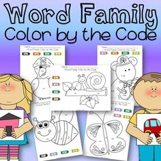 Here is a freebie for your students to enjoy! Don't forget to leave feedback! This product includes 5 'color by the code' pages. Looking for som. Kindergarten Freebies, Teacher Freebies, Teaching Kindergarten, Kindergarten Literacy, Reading Centers, Reading Skills, Reading Resources, Word Work, Word Study