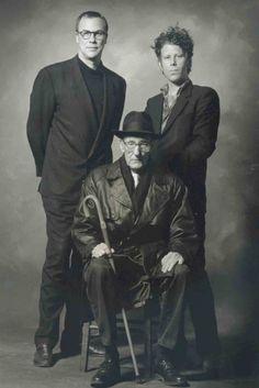 Robert Wilson Tom Waits y William Burroughs foto de Ralf Brinkhoff 1993