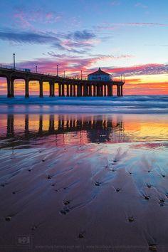~~Sunset at Manhattan Beach Pier ~ California by Nhut Pham~~
