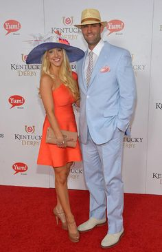 Matt Schaub Looked Cool In His Pastel Blue Suit At The Kentucky Derby Moet Chandon Toast