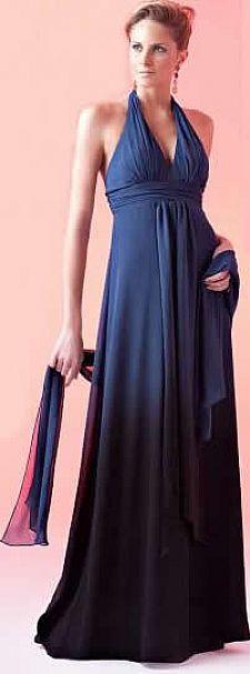 vestido de festa em musseline em tecido degradê,