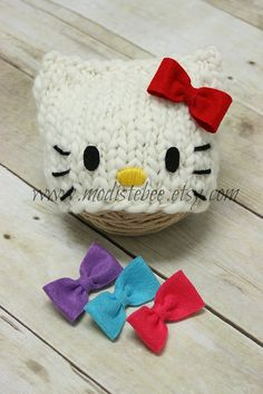 Ready to Ship Kitty Hat  Newborn photography prop by ModisteBee, $45.00