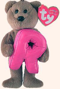 R - Alphabet Bear - Beanie Babies