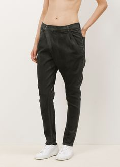 R13 X-Over Jean (Black Waxed)