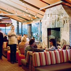Napa Valley's outdoor living room: Bottega restaurant, Yountville, CA