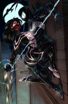 Silk n'Symbiote Spidey by emmshin on DeviantArt