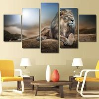 Home Decor Canvas Art Print Animal Poster Modern Home Decorative Painting 5 Panel Lovely Big Eyed Seal Modular Pictures Wall Framework Highly Polished Back To Search Resultshome & Garden