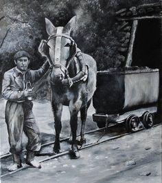 La mula que se usaba para extraer el carbón de la mina